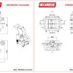 Moinho MF300RC Carenado - Desenho Técnico